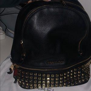 Medium Michael Kors Studded Leather Backpack